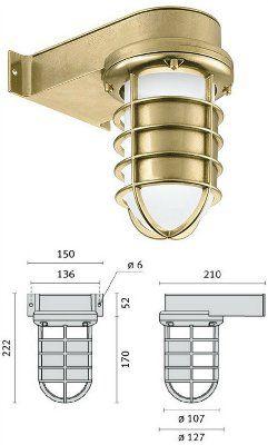 Cветильник SAILOR VISA 008801 пылевлагозащищённый настенный (PRISMA, Италия), IP 65