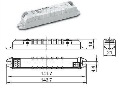 Драйвер (блок питания) ECXe 350.031 186229 для LED источников света (светодиодных светильников) 0.7-15W/350mA. Vossloh-Schwabe (Германия)
