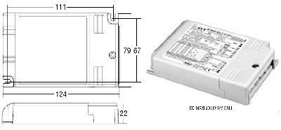 Драйвер (блок питания) 122414 DC MAXI JOLLY HV диммируемый 1-10 V & PUSH, универсальный, 250-700mA, 0-50W для LED источников света (светодиодных светильников). TCI, Италия.