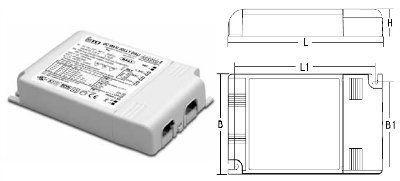Драйвер (блок питания) 122412 DC MAXI JOLLY DALI диммируемый , универсальный 25-50W/350-1050mA, для LED источников света. TCI, Италия. Снят с производства, замена на DC MAXI JOLLY DALI 127054