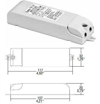 Драйвер (блок питания) 119772 MW 70 LED DIMMABLE 12В, 70Вт для LED источников света (светодиодных светильников). TCI, Италия.
