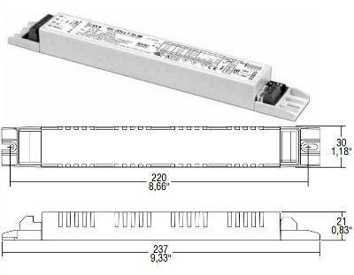 Драйвер (блок питания) 122680 DC JOLLY SLIM 1-10V & PUSH (снят с производства, замена на 123680 DC JOLLY SLIM 1-10V & PUSH ) диммируемый, универсальный 17-32W/350mA-900mA, для LED источников света (светодиодных светильников). TCI, Италия.