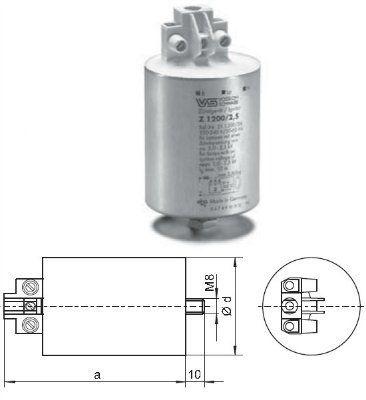 Импульсное зажигающее устройство (ИЗУ, игнитор, IGNITOR) Z 1200/2,5 140608 для проекционных ламп до 1200Вт, алюм.корп. Vossloh-Schwabe(Германия).