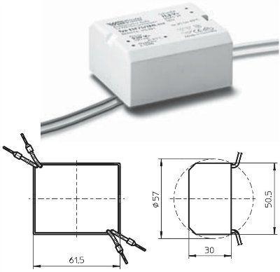 Электронный трансформатор EST 75/12G.302 162400, 20-75W, 12V, IP54. Vossloh-Schwabe