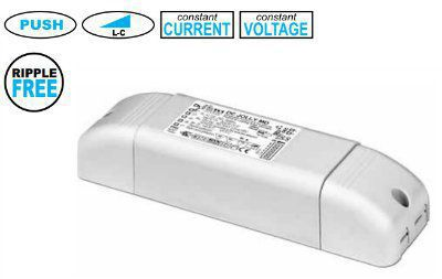Драйвер (блок питания) 122260 DC JOLLY MD PUSH диммируемый по протоколам IGBT-TRIAC или PUSH, универсальный 0-32W, 350 -900mA для LED источников света (светодиодных светильников). TCI, Италия.