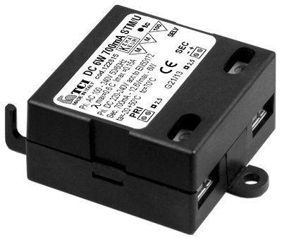 Драйвер (блок питания) 122813 DC 6W 500mA STM/U для LED источников света (светодиодных светильников). TCI, Италия.