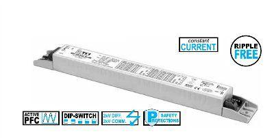 Драйвер (блок питания) 127520 SEP 52/350 SLIM универсальный, без гальванической развязки для офисных светильников для LED источников света (светодиодных светильников). TCI, Италия.