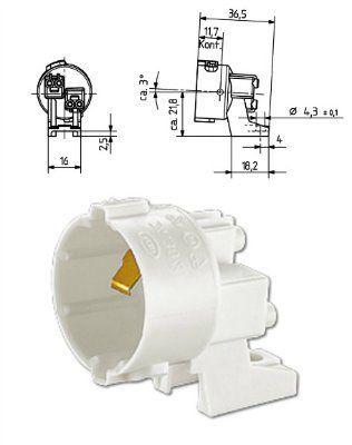 Патрон B22d 24.304.3901.50 для ЛН установка на винты. BJB (Германия)