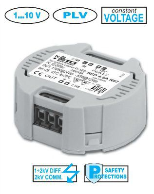 Блок диммирования 120300 SED 4.5A R57 для светодиодных лент, по протоколу 1-10V или PUSH (PUSH-DIM) 12V, 24V max. присоединяемая мощность 110W. TCI, Италия