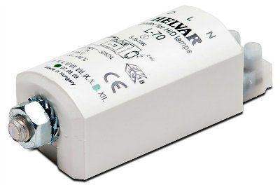 Импульсное зажигающее устройство (ИЗУ, игнитор, IGNITOR) HI-400S для натриевых ламп высокого давления (HS, ДнАТ), металлогалогенных ламп (HI, С-HI, МГЛ) мощностью 35 - 400 Вт. Helvar, Финляндия.