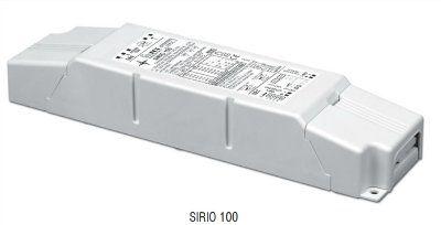 Драйвер (блок питания) 127200 SIRIO 100 диммируемый по протоколу 1-10 V; универсальный: 250-700mA, 0-100W, для LED источников света (светодиодных светильников). TCI, Италия.