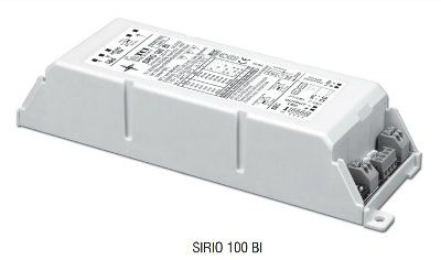 Драйвер (блок питания) 127210 SIRIO 100 BI диммируемый 1-10 V, универсальный 250-700mA, 0-100W, для LED источников света (светодиодных светильников). TCI, Италия.