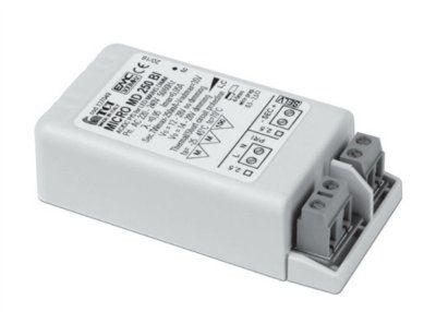 Драйвер (блок питания) 127107 MICRO MD 180 BI диммируемый по протоколу IGBT-TRIAC (при помощи обычного диммера) 180mA, 4,5-6,5W для LED источников света (светодиодных светильников). TCI, Италия.