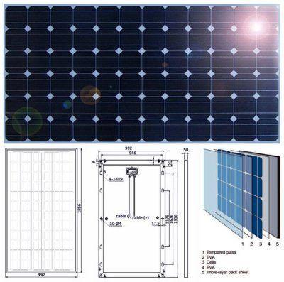 Солнечная батарея ENSOL300P, 300 Вт