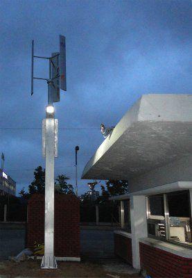 Автономная гибридная система уличного освещения 410Вт c LED-лампой EN-HL410/12