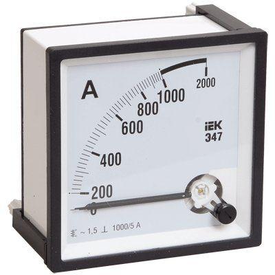 Амперметр Э47 1500/5А класс точности 1,5 96х96ммIPA20-6-1500-E