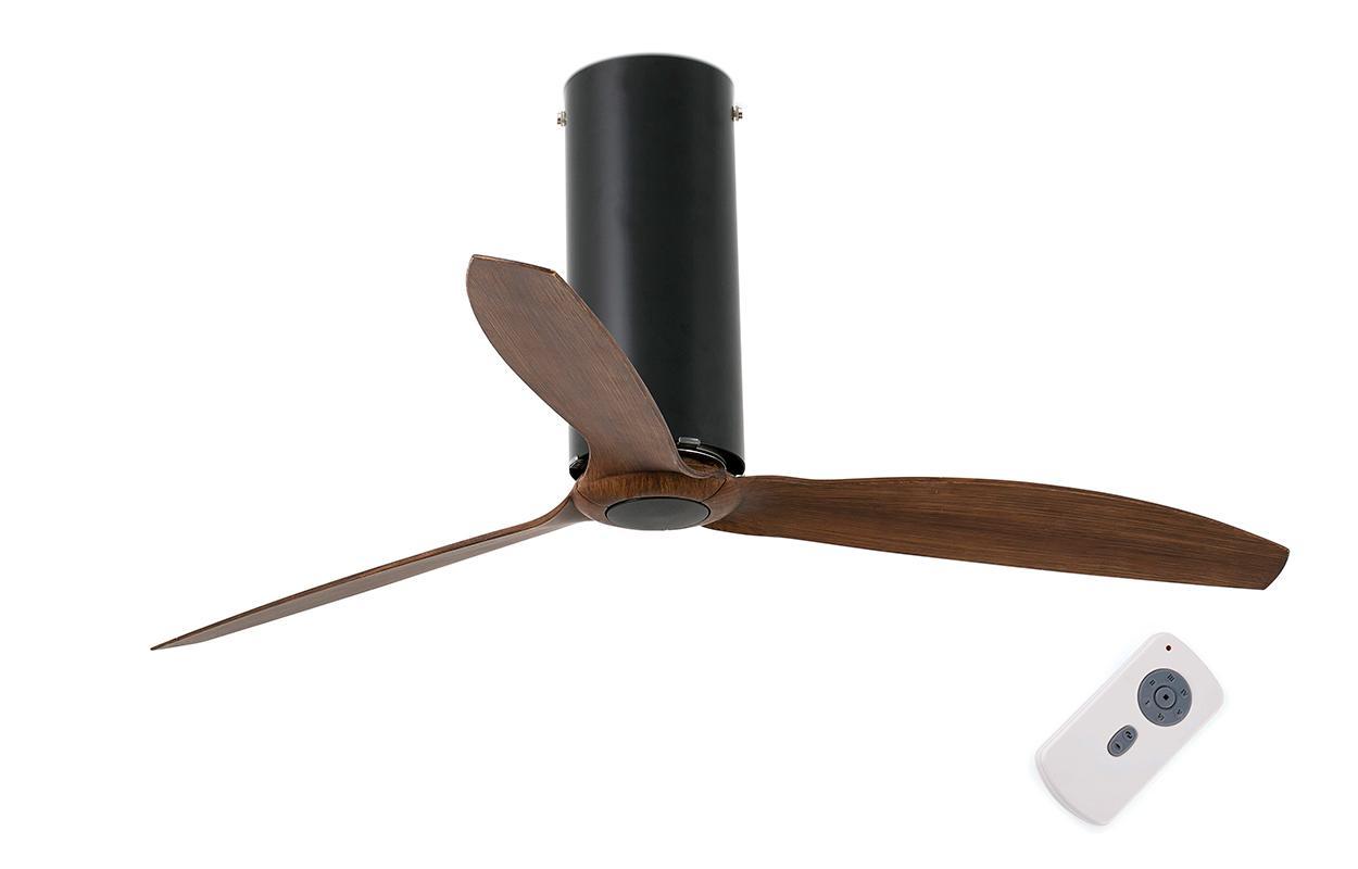 Потолочный вентилятор Tube Fan Matt Black Wood