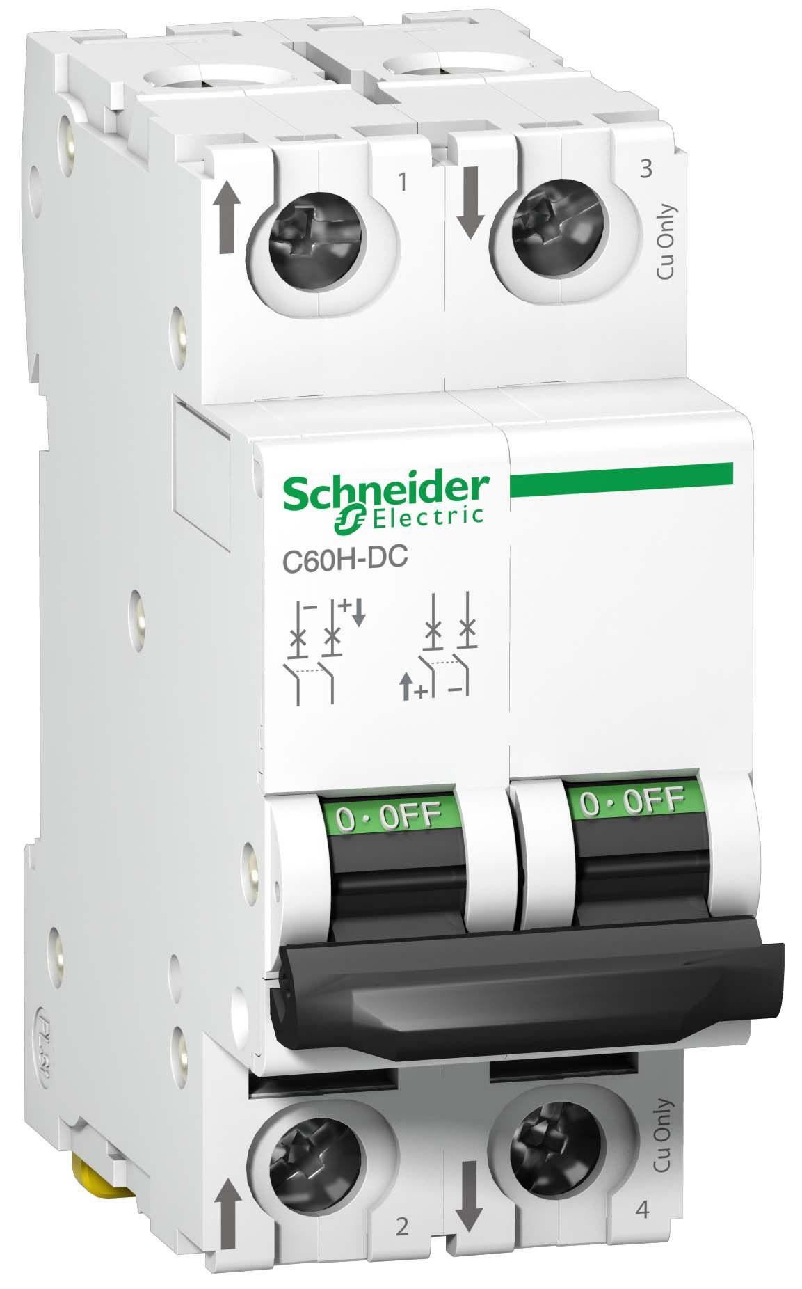 Выключатель автоматический 2-пол.  3A C 10кА C60H-DC Schneider Electric