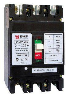 Автоматический выключатель ВА-99М 250/250А 3P 25кА EKF Basic
