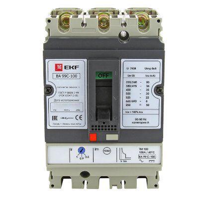 Автоматический выключатель ВА-99C (Compact NS) 100/63А 3P 36кА EKF PROxima