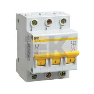 Автоматический выключатель 3п 25А С ВА47-63 4.5кА ЭКФ пломба