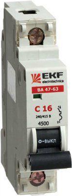 Автоматический выключатель 1п 32А С ВА47-63 4.5кА ЭКФ
