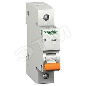 Автоматический выключатель ВА63 однополюсный 25 A, характеристика С (11205)
