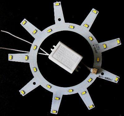 Комплект для модернизации светильника типа ЖКХ, 12W, белый 5500 K , 5730