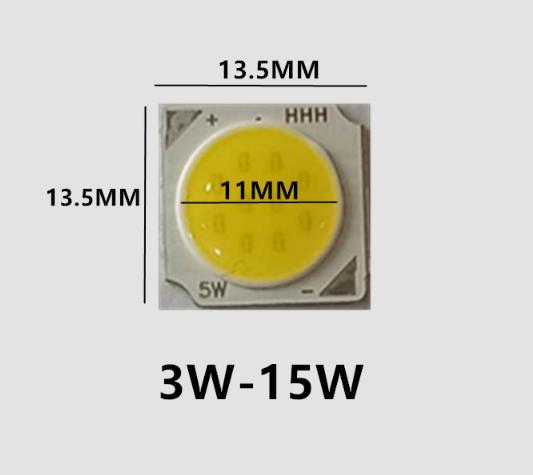 Светодиод-кластер-15Ват COB-15W 1500Lm 6000K 45-48V 300ma