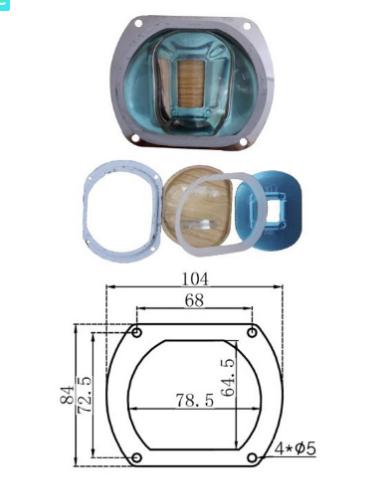 Линза стекло 140 градусов с креплением для кластера 50-100 Ват.