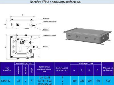Коробка КЗНА-32 У3