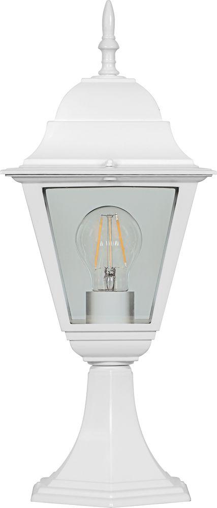 Feron Светильник садово-парковый Feron 4104 четырехгранный на постамент 60W E27 230V, белый