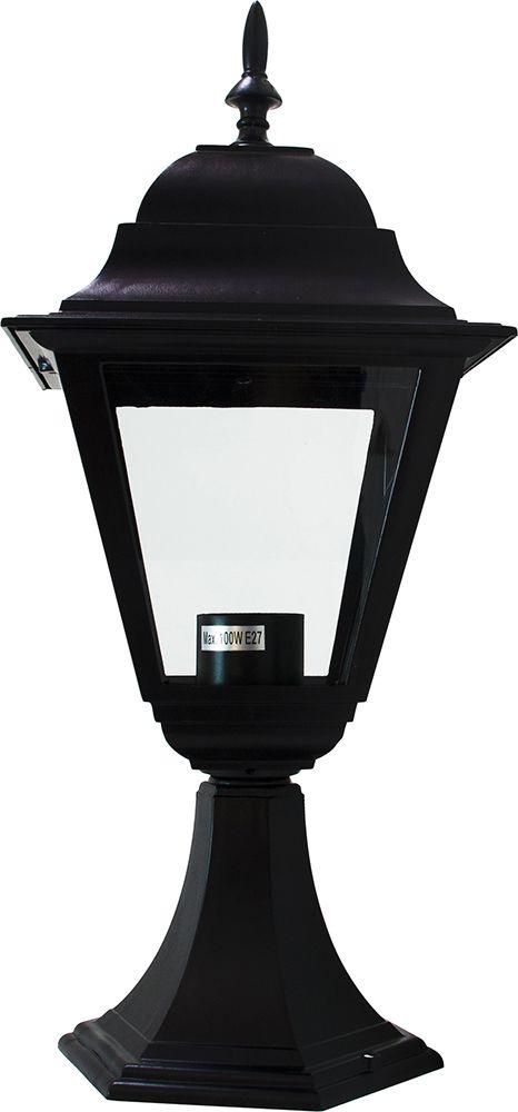 Feron Светильник садово-парковый Feron 4104 четырехгранный на постамент 60W E27 230V, черный