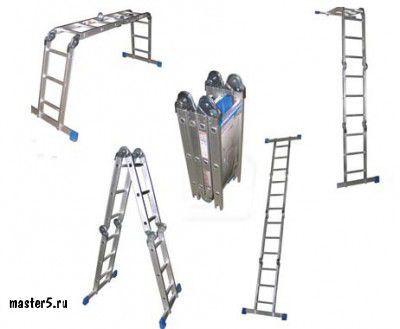 Лестница трансформер стремянка Алюмет 4х4 (1,17*2,2*4,57)