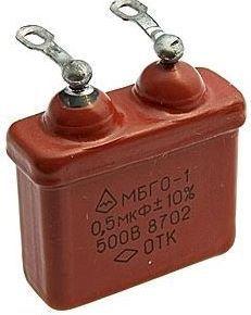 Конденсатор МБГО-1 1 мкф 500 в «Россия»