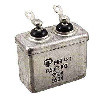Конденсатор МБГЧ-1-1 0.5 мкф 250 в «Россия»