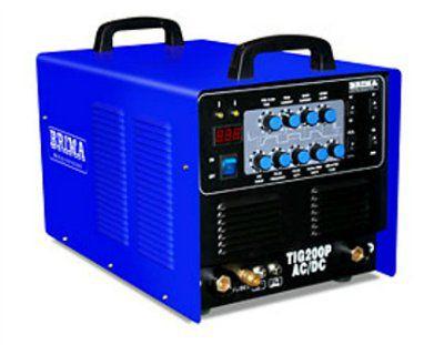 аппарат для аргонодуговой сварки TIG-200P AC/DC BRIMA (220В; 10-200 А; ПН 60%; 4,5 кВА; 20кг; HF поджиг дуги; импульсный режим) с горелкой