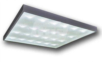Светодиодный светильник офисный армстронг с призматическим стеклом 32/64W (CW/WW/NW) 220V IP40 GL