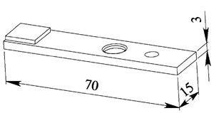 Контакт контактора КПД 111 подвижный