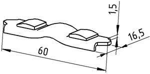 Контакт пускателя ПАЕ 500 подвижный