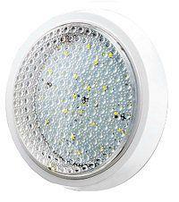 Уютель UTLED PANEL 11W Round свет-к накладной, круглый белый, прозр. стекло, 220V, 48LED, SMD2835, 6400К, IP44, 1100Lm/40/