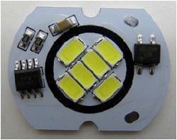 Уютель запчасть - светод. плата PCB COB 6W 6XSMD5730 Ф32MM, 6000K, 220V