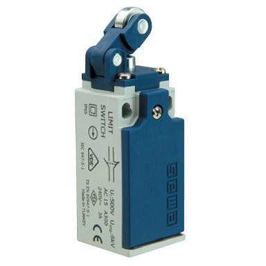 Концевой выключатель L5K23MIP311 с пластмассовой консолью и пластмассовым роликом Ф14мм (1НО+1НЗ) Emas