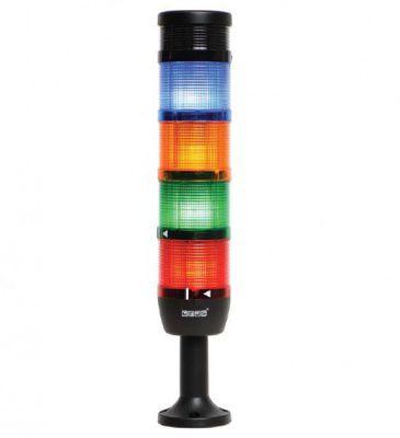 Сигнальная колонна диаметр 70 мм, красная, желтая, зеленая, синяя, зуммер, 24 В, светодиод LED IK74L024ZM01