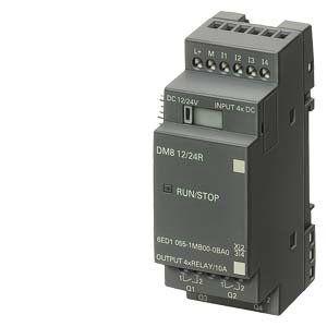 Модуль ввода-вывода 24V DC, 4DI, 4DO, LOGO DM8 24, в наличии