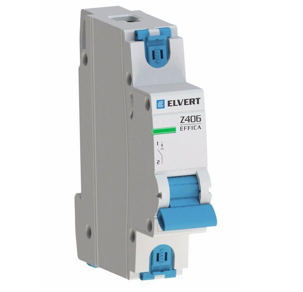 Автоматический выключатель модульный (ВА), 1-полюс, Z406 1Р C16, 4,5кА, ELVERT