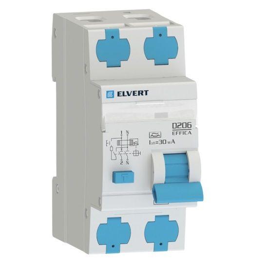 АВДТ электромеханический, 2-полюса, D206 2р C563 30 мА тип А, ELVERT