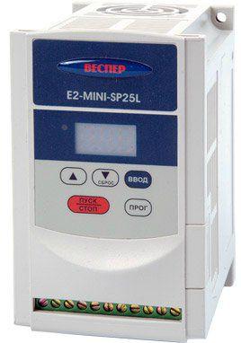 Преобразователь частоты Веспер E2-MINI-S3L-2,2 кВт, 2200В, IP20 (частотный преобразователь, vesper)
