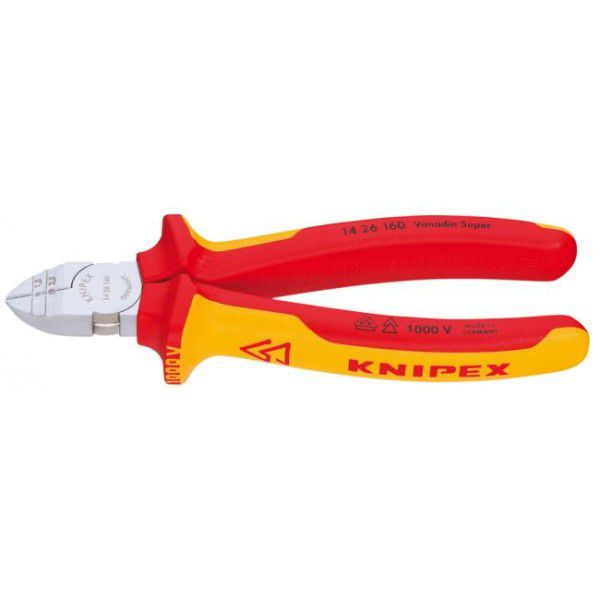 KNIPEX Кусачки диагональные для удаления изоляции VDE 160 мм KNIPEX KN-1426160