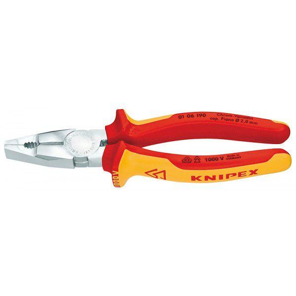 KNIPEX Плоскогубцы комбинированные, хром-ванадиевые VDE 160 мм KNIPEX KN-0106160